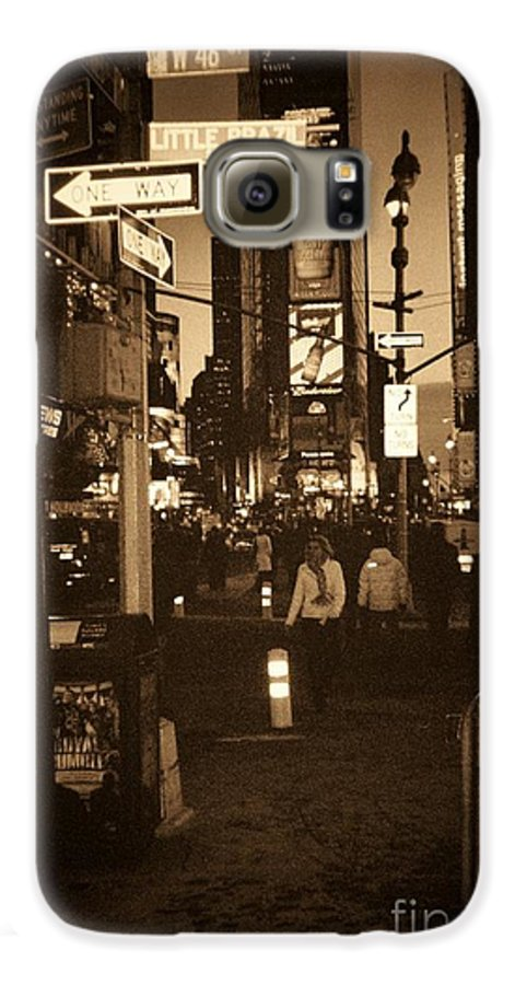 New York Galaxy S6 Case featuring the photograph Times Square by Debbi Granruth