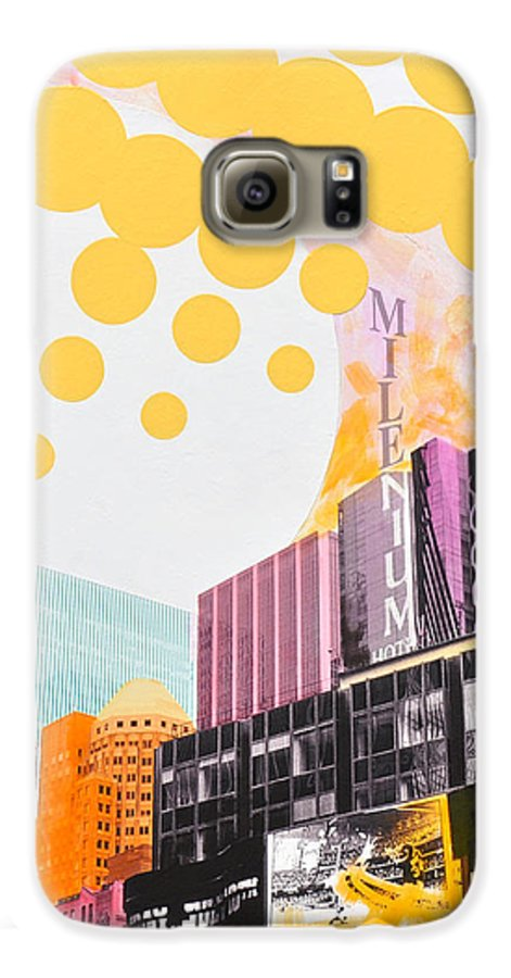 Ny Galaxy S6 Case featuring the painting Times Square Milenium Hotel by Jean Pierre Rousselet