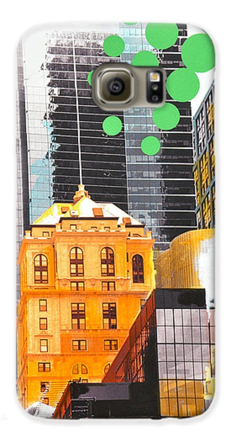 Ny Galaxy S6 Case featuring the painting Times Square Ny Advertise by Jean Pierre Rousselet