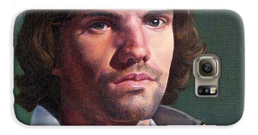 Portrait Galaxy S6 Case featuring the painting Toby by Deborah Allison