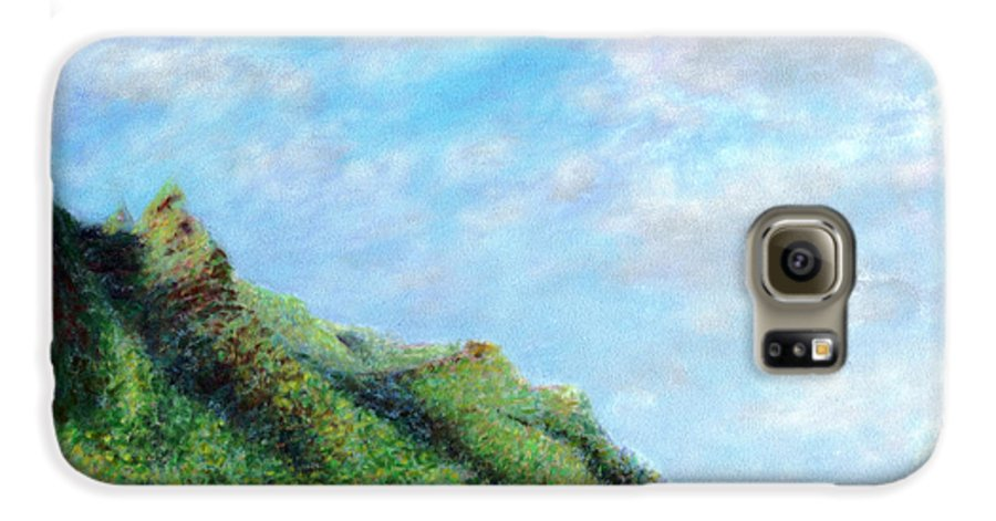 Coastal Decor Galaxy S6 Case featuring the painting Tondo by Kenneth Grzesik