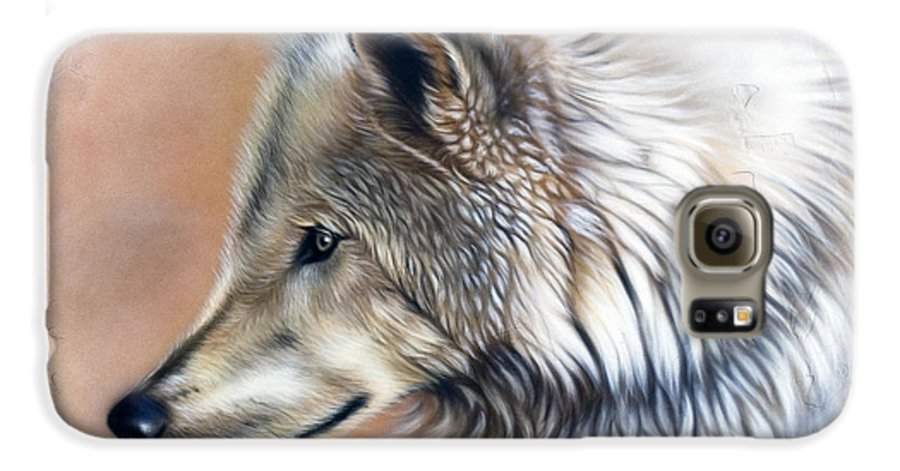 Wolves Galaxy S6 Case featuring the painting Trace IIi by Sandi Baker