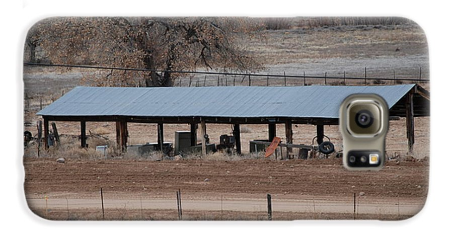 Architecture Galaxy S6 Case featuring the photograph Tractor Port On The Ranch by Rob Hans