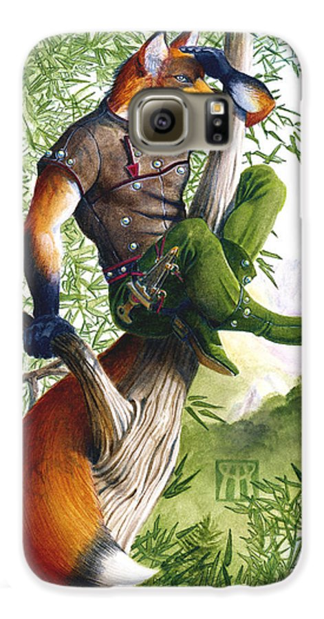 Fantasy Galaxy S6 Case featuring the painting Trail Blazing Fox by Melissa A Benson