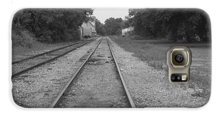 Train Galaxy S6 Case featuring the photograph Train To Nowhere by Rhonda Barrett