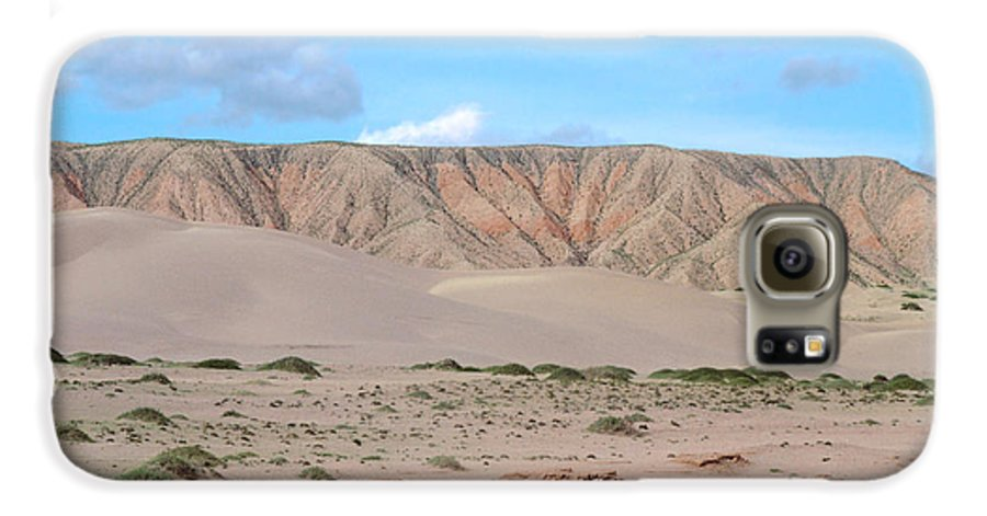 Desert Galaxy S6 Case featuring the photograph Tranquil Qinghai Desert Mountain In China by Anna Lisa Yoder