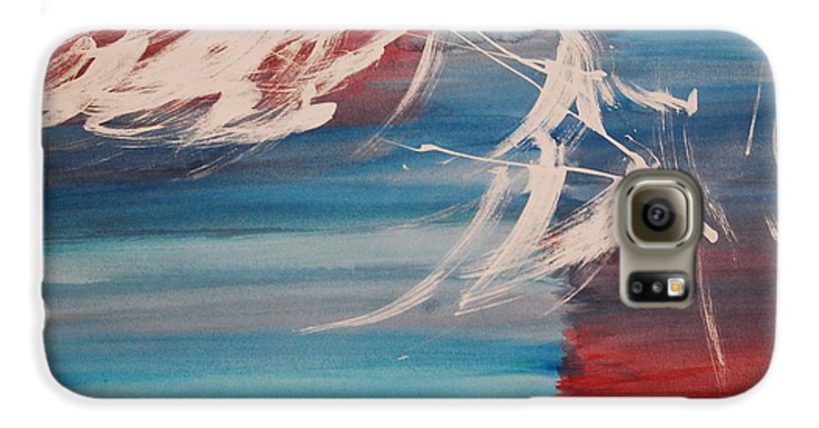 Tranquility Galaxy S6 Case featuring the painting Tranquilidad 2 by Lauren Luna