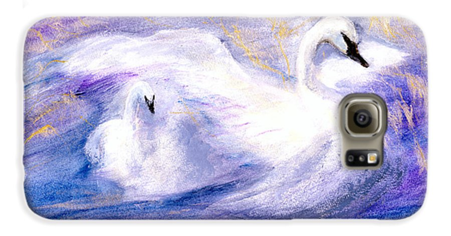 Birds Galaxy S6 Case featuring the painting Transformation by Gail Kirtz