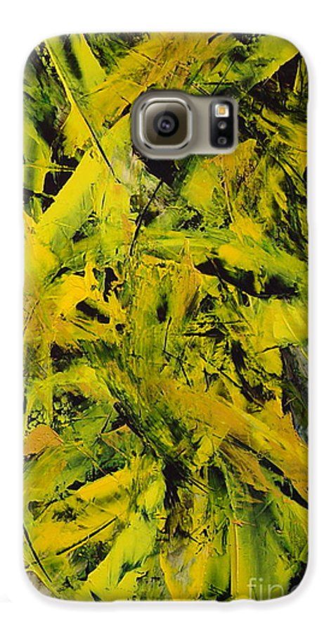 Abstract Galaxy S6 Case featuring the painting Transitions Vi by Dean Triolo