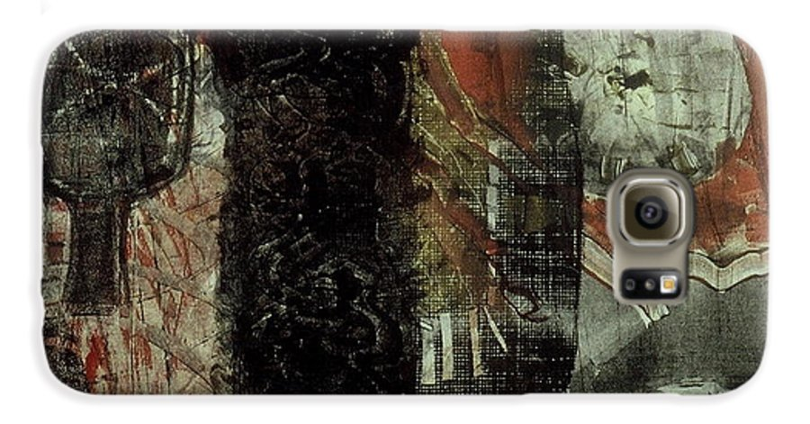 Monotype Galaxy S6 Case featuring the print Tree Fossils by Angela Dickerson