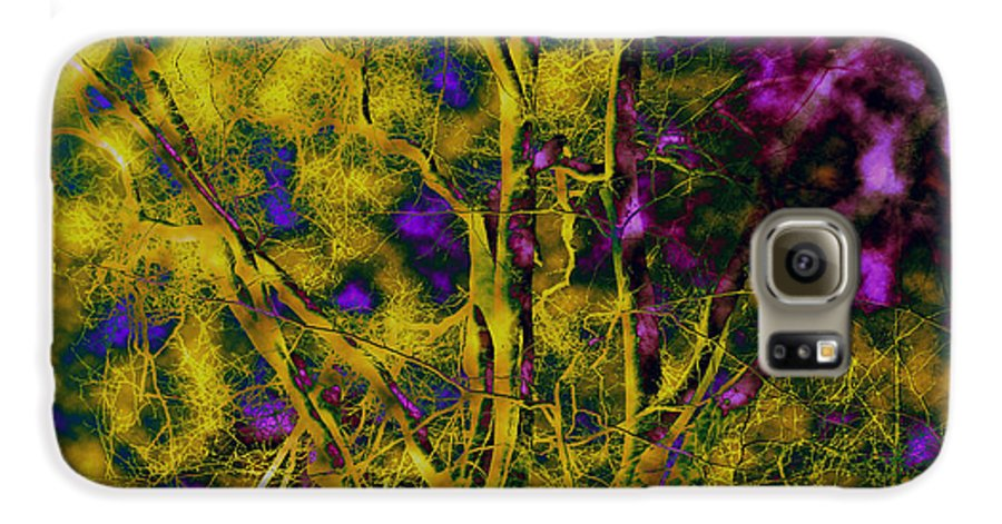 Abstract Galaxy S6 Case featuring the photograph Tree Glow by Linda Sannuti