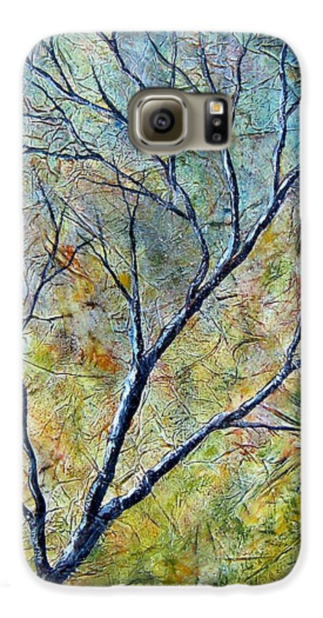 Galaxy S6 Case featuring the painting Tree Number One by Tami Booher