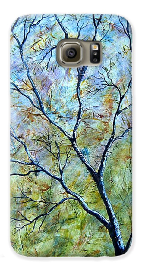 Galaxy S6 Case featuring the painting Tree Number Two by Tami Booher