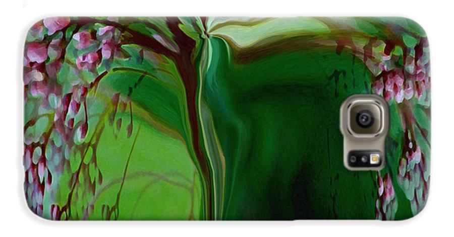 Tree Life Art Galaxy S6 Case featuring the digital art Tree Of Life by Linda Sannuti