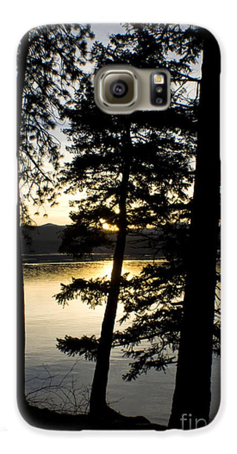Trees Galaxy S6 Case featuring the photograph Trees By The Lake by Idaho Scenic Images Linda Lantzy