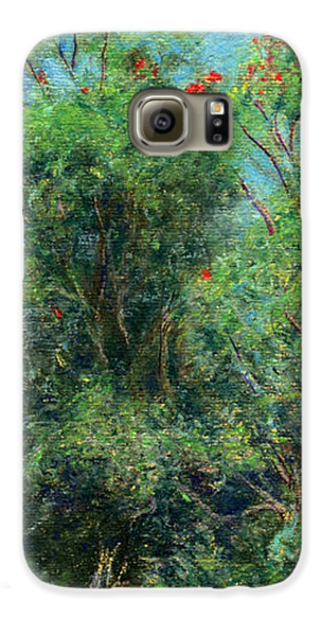 Rainbow Colors Pastel Galaxy S6 Case featuring the painting Trees Of Kokee by Kenneth Grzesik