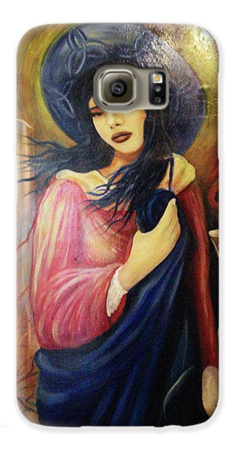 Witch Galaxy S6 Case featuring the painting Trial By Fire by Will Le Beouf