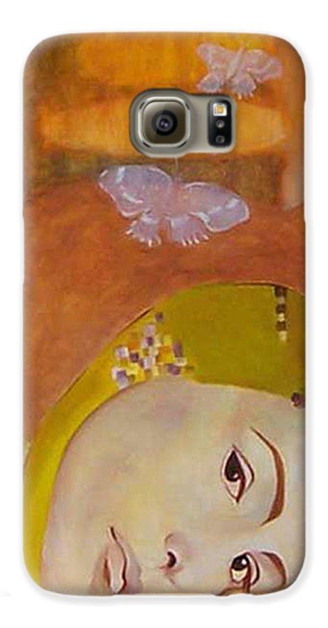 Figurative Galaxy S6 Case featuring the painting Trio by Antoaneta Melnikova- Hillman