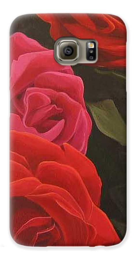 Roses In Italy Galaxy S6 Case featuring the painting Trio by Hunter Jay