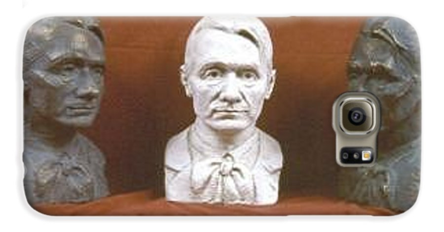 Galaxy S6 Case featuring the sculpture Trio Portrait Of Rudolf Steiner by David Dozier