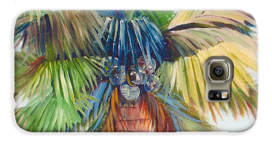 Palm Galaxy S6 Case featuring the painting Tropical Palm Inn by Susan Kubes