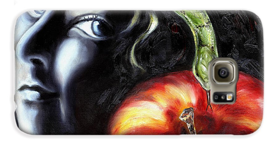 Adam And Eve Galaxy S6 Case featuring the painting Trouble Makers by Hiroko Sakai