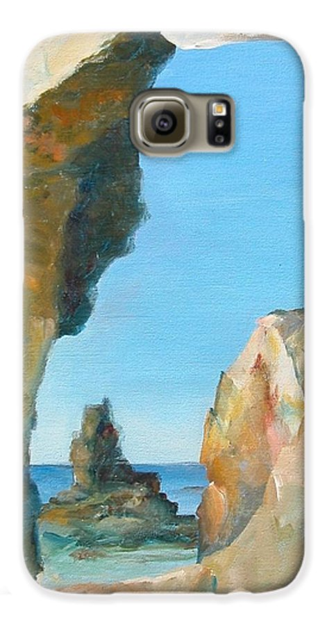 Paysage Galaxy S6 Case featuring the painting Trouee 1 by Muriel Dolemieux