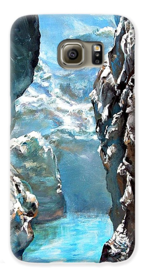 Landscape Galaxy S6 Case featuring the painting Trouee 3 by Muriel Dolemieux