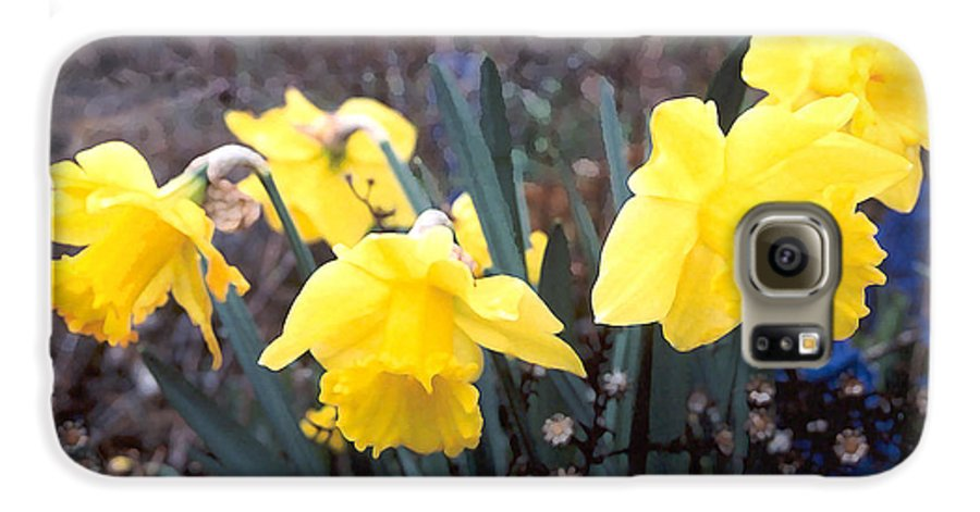 Flowes Galaxy S6 Case featuring the photograph Trumpets Of Spring by Steve Karol
