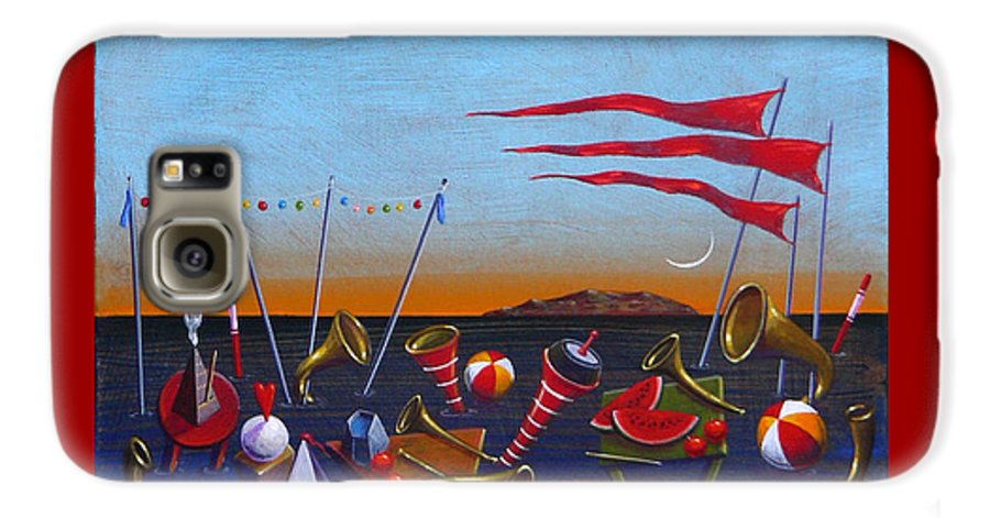 Piano Galaxy S6 Case featuring the painting Trumpets Of The Mediterranean by Dimitris Milionis