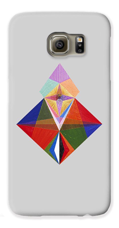 Contemporaryart Galaxy S6 Case featuring the painting Truth by Michael Bellon