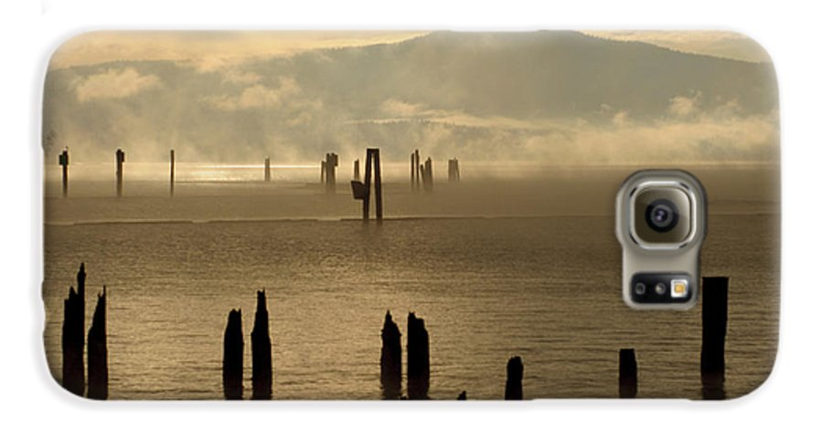Tugboat Galaxy S6 Case featuring the photograph Tugboat In The Mist by Idaho Scenic Images Linda Lantzy