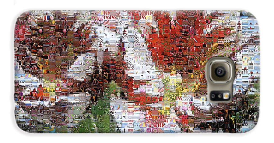 Lighthouse Galaxy S6 Case featuring the photograph Tulips In Springtime Photomosaic by Michelle Calkins