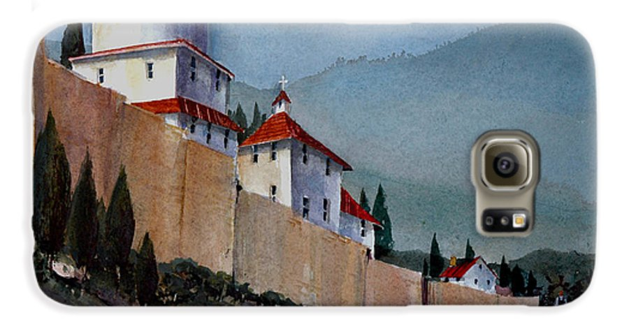 Tuscan Galaxy S6 Case featuring the painting Tuscan Lane by Charles Rowland