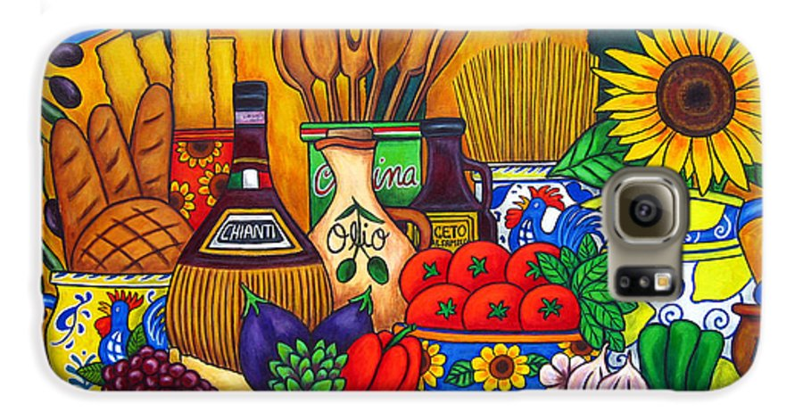 Still Life Galaxy S6 Case featuring the painting Tuscany Delights by Lisa Lorenz