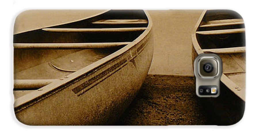 Canoes Galaxy S6 Case featuring the photograph Two Canoes by Jack Paolini