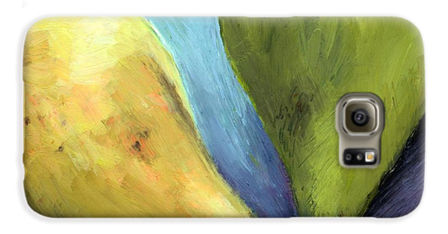 Pear Galaxy S6 Case featuring the painting Two Pears Still Life by Michelle Calkins