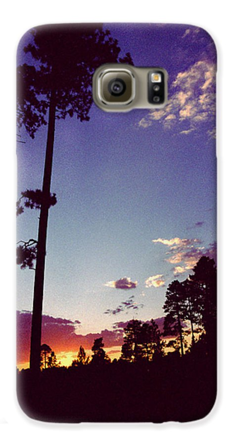Arizona Sunset Galaxy S6 Case featuring the photograph Two Pines Sunset by Randy Oberg