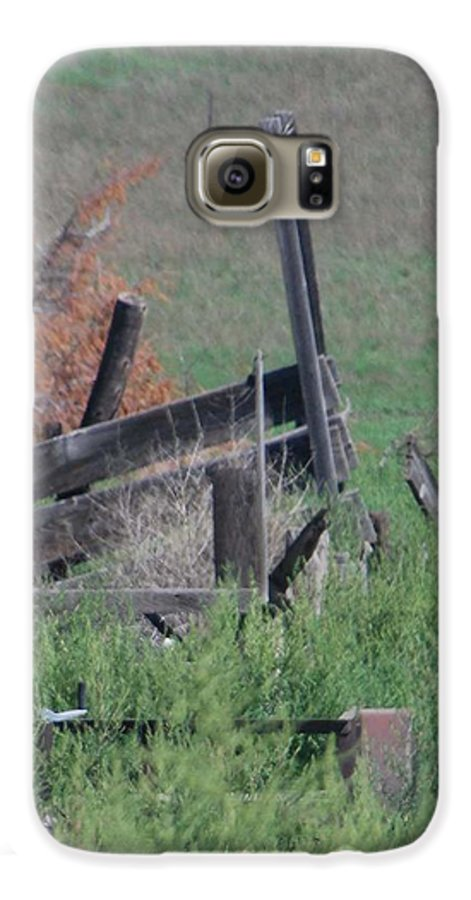 Farm Galaxy S6 Case featuring the photograph Untended Fences by Margaret Fortunato