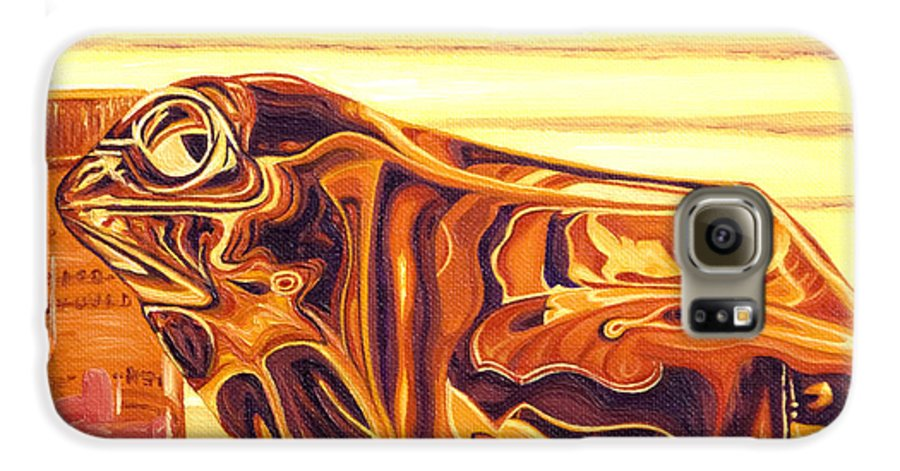 Frog Galaxy S6 Case featuring the painting Untitled by Judy Henninger