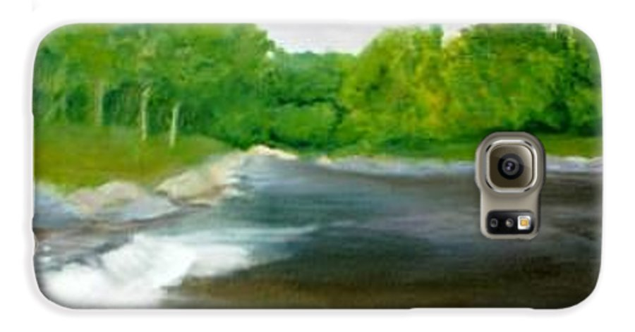 River Galaxy S6 Case featuring the painting Untitled Plein Aire by Sheila Mashaw