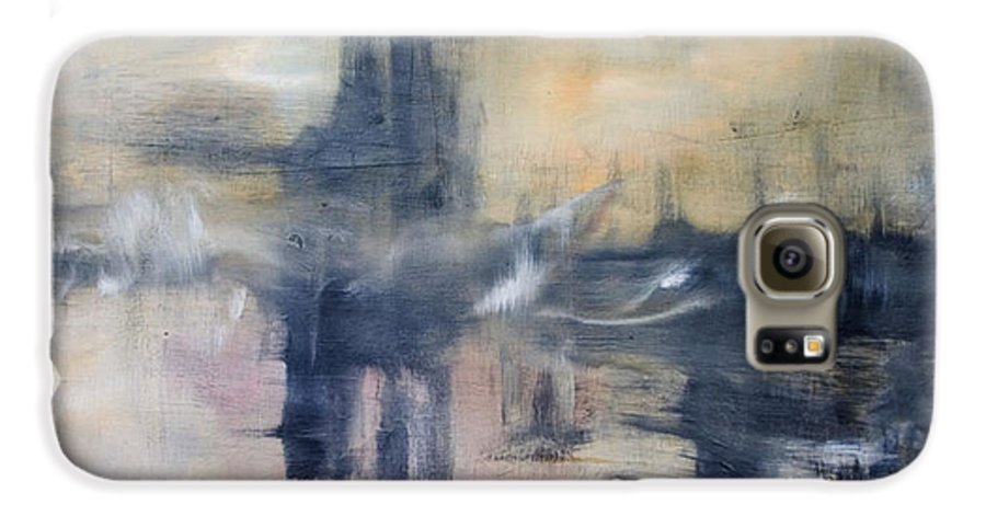 Cityscape Galaxy S6 Case featuring the painting Untitled by Shawnequa Linder
