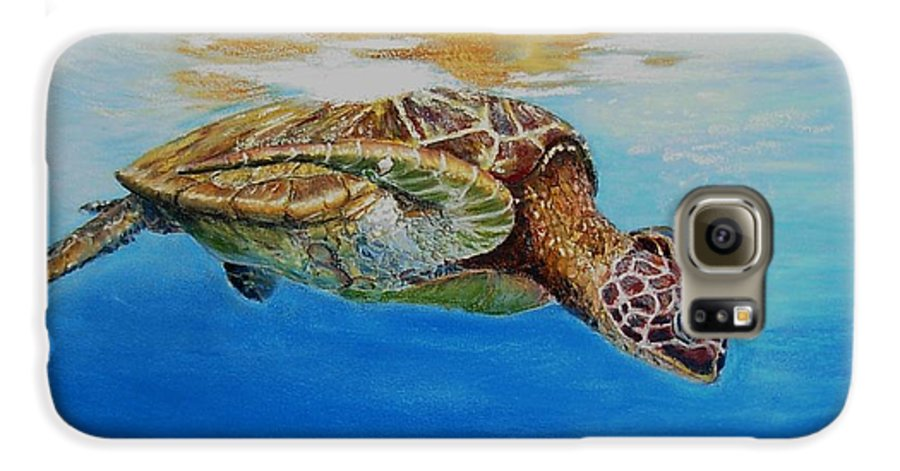 Wildlife Galaxy S6 Case featuring the painting Up For Some Rays by Ceci Watson