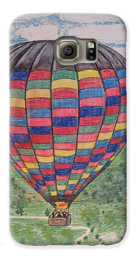 Balloon Ride Galaxy S6 Case featuring the painting Up Up And Away by Kathy Marrs Chandler