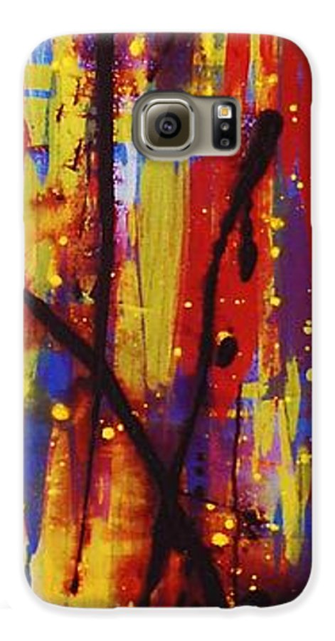 Abstract Galaxy S6 Case featuring the painting Urban Carnival by Lauren Luna