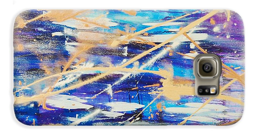 Abstract Galaxy S6 Case featuring the painting Urban Footprint by Lauren Luna