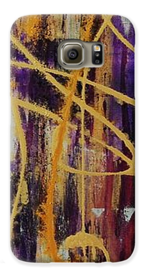Abstract Galaxy S6 Case featuring the painting Urban Royality by Lauren Luna