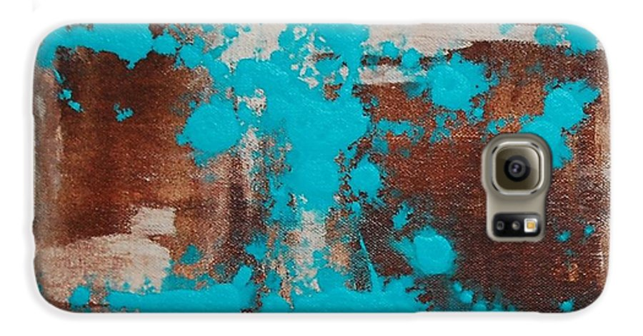 Diptech Galaxy S6 Case featuring the painting Urbanesque I by Lauren Luna