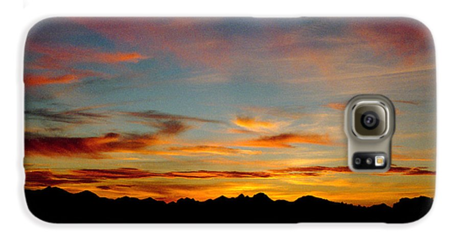 Arizona Sunset Galaxy S6 Case featuring the photograph Usery Sunset by Randy Oberg