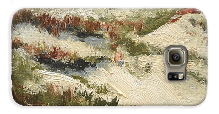 Water Galaxy S6 Case featuring the painting Ventura Dunes II by Barbara Andolsek